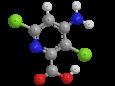 Аминопиралид - Трехмерная модель молекулы