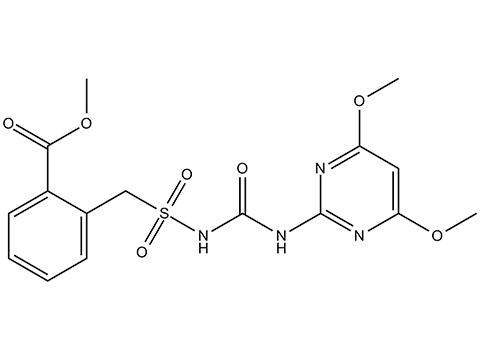 Бенсульфурон-метил - Структурная формула