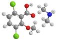 Дикамба (диметиламинная соль) - Трехмерная модель молекулы