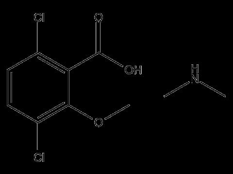 Дикамба (диметиламинная соль) - Структурная формула