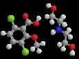 Дикамба (диэтилэтаноламмониевая соль) - Трехмерная модель молекулы