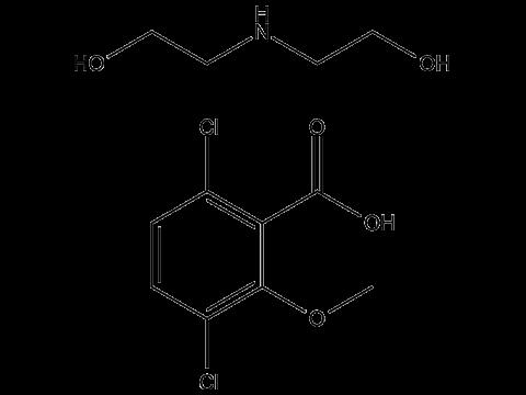 Дикамба (диэтилэтаноламмониевая соль) - Структурная формула