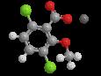 Дикамба (натриевая соль) - Трехмерная модель молекулы