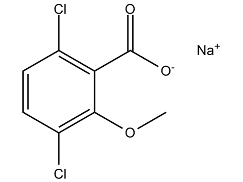 Дикамба (натриевая соль) - Структурная формула