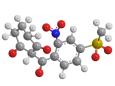 Мезотрион - Трехмерная модель молекулы