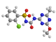 Хлорсульфурон - Трехмерная модель молекулы