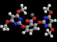 Биспирибак натрия - Трехмерная модель молекулы
