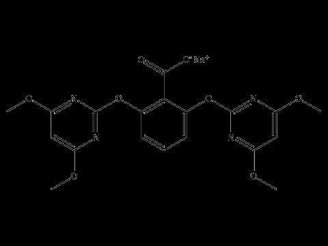 Биспирибак натрия - Структурная формула