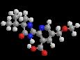 Имазамокс - Трехмерная модель молекулы