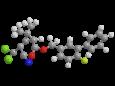 Бета-цифлутрин - Трехмерная модель молекулы