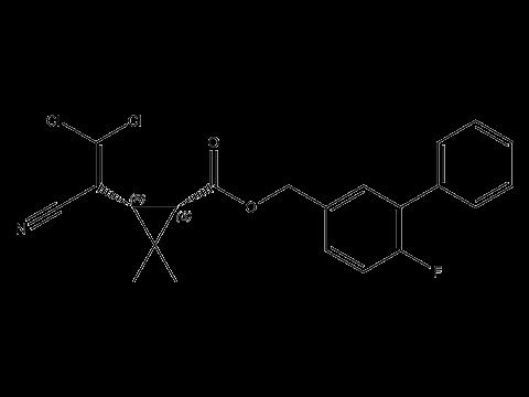 Бета-цифлутрин - Структурная формула