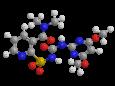 Никосульфурон - Трехмерная модель молекулы