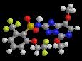 Пеноксулам - Трехмерная модель молекулы