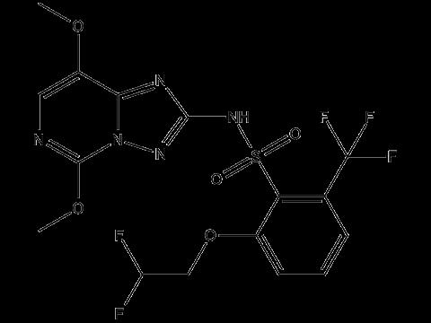 Пеноксулам - Структурная формула