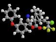 Лямбда-цигалотрин - (S)-α-циано-З-феноксибензиловый эфир (Z)-(1R)- цис-3-(2-хлор-3,3,3-трифторпропенил)-2,2-диметилциклопропанкарбоновой кислоты, трехмерная модель молекулы