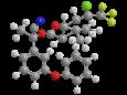 Лямбда-цигалотрин - (R)-α-циано-3-феноксибензиловый эфир (Z)-(1S)-цис-3-(2-хлор-3,3,3-трифторпропенил)-2,2-диметилциклопропанкарбоновой кислоты, трехмерная модель молекулы