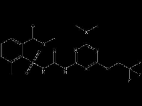 Трифлусульфурон-метил - Структурная формула