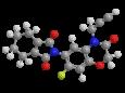 Флумиоксазин - Трехмерная модель молекулы