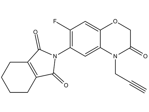 Флумиоксазин - Структурная формула