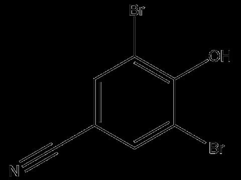 Бромоксинил (октаноат эфира) - Структурная формула