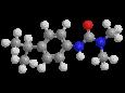 Изопротурон - Трехмерная модель молекулы