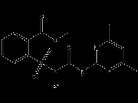 Сульфометурон-метил (калиевая соль) - Структурная формула