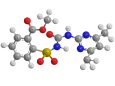 Сульфометурон-метил - Трехмерная модель молекулы