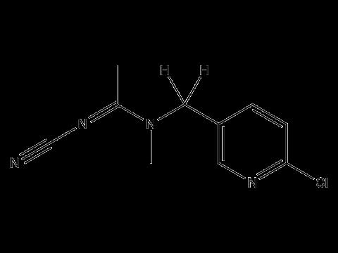Ацетамиприд - Структурная формула