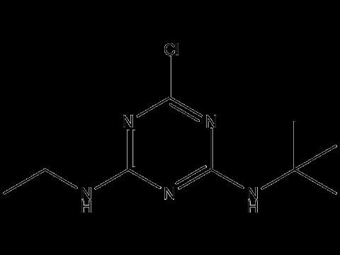 Тербутилазин - Структурная формула