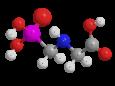 Глифосат - Трехмерная модель молекулы
