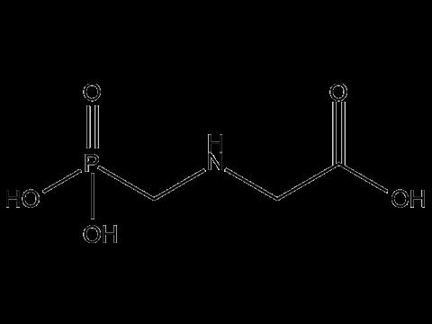 Глифосат - Структурная формула