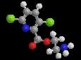 Клопиралид - Трехмерная модель молекулы