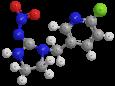 Имидаклоприд - Трехмерная модель молекулы