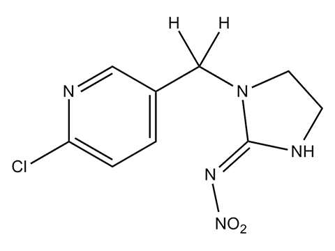 Имидаклоприд - Структурная формула