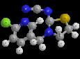 Тиаклоприд - Трехмерная модель молекулы