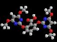 Биспирибак кислота - Трехмерная модель молекулы