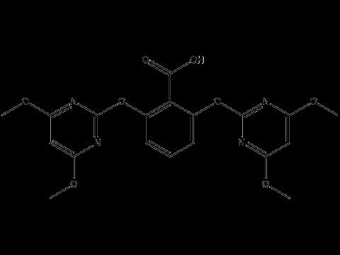 Биспирибак кислота - Структурная формула