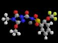 Флукарбазон натрия - Трехмерная модель молекулы