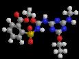 Этаметсульфурон-метил - Трехмерная модель молекулы