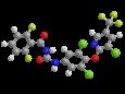 Хлорфлуазурон - Трехмерная модель молекулы