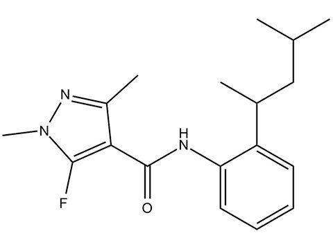 Пенфлуфен - Структурная формула