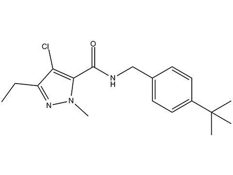 Тебуфенпирад - Структурная формула