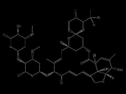 Абамектин - Структурная формула
