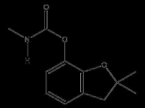 Карбофуран - Структурная формула