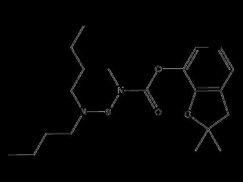 Карбосульфан - Структурная формула
