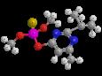 Диазинон - Трехмерная модель молекулы
