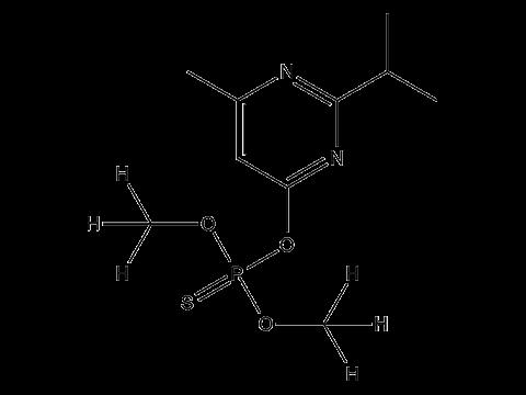 Диазинон - Структурная формула