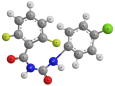 Дифлубензурон - Трехмерная модель молекулы