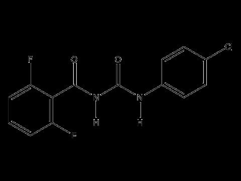 Дифлубензурон - Структурная формула