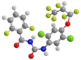 Люфенурон - Трехмерная модель молекулы